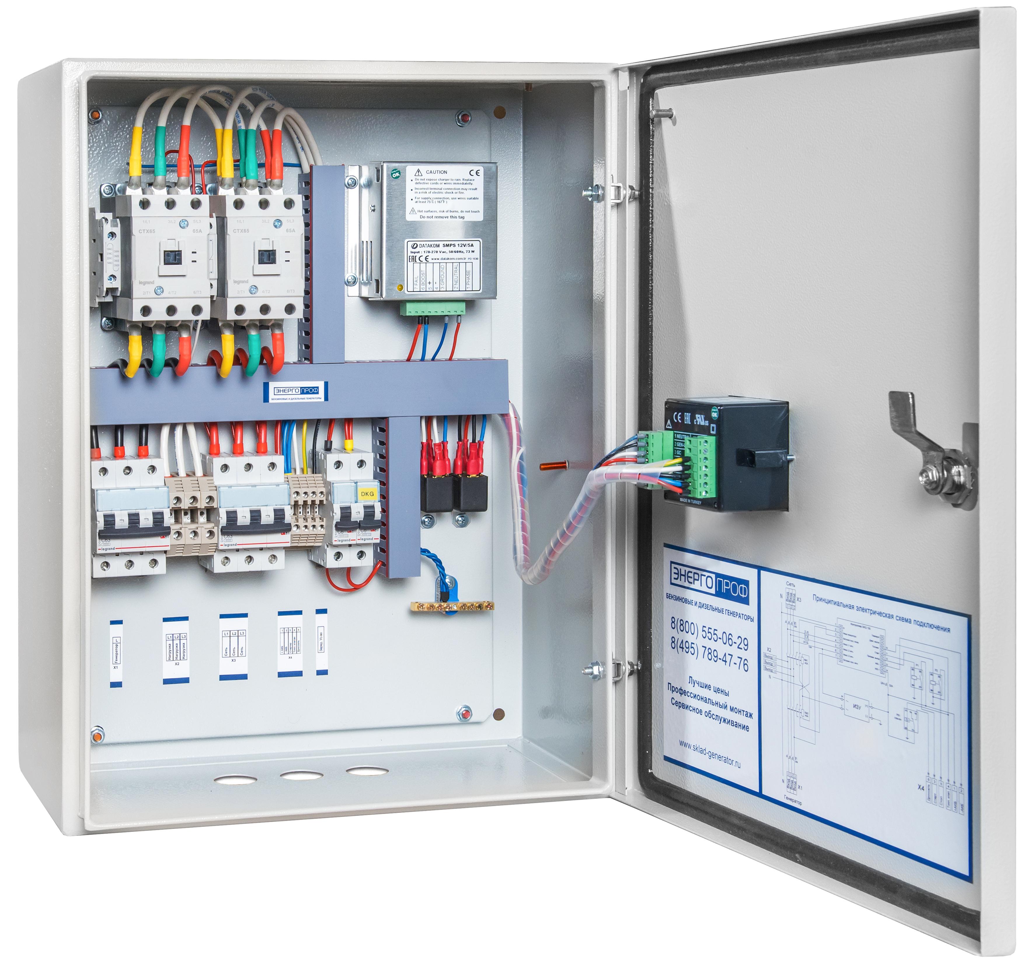 Блок автоматического ввода резерва (АВР) ЭнергоПроф Legrand 63 от ...